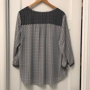 NYDJ Tops - NYDJ peasant blouse size L